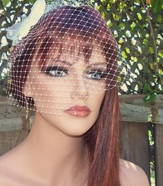 Bridal veil french net angle crop veil  white or by kathyjohnson3, $21.00