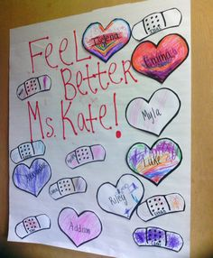 Children expressing their love for their Teacher.
