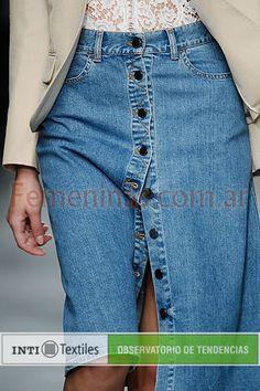 Falda jean abotonada Stella Mccartney