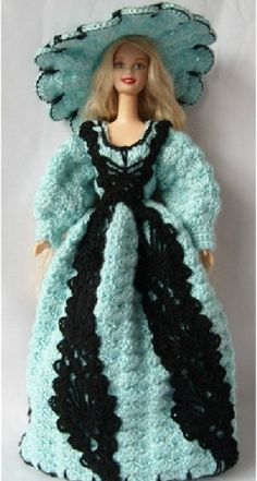 Handmade kniting Barbie dolls clothes cap without Models waist year 1991 Christmas gifts fashion dress | diyfashion - Cr