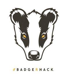 Quick logo for screenprint. #badger #logo