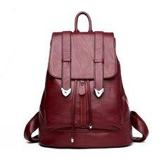 75fa4d92f637 Women Leather Backpack School Bags Mochilas Mujer 2017 Backpacks For  Teenage Girls Designer High Quality Sheepskin Travel Bag
