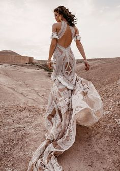 Rue de Seine Wild Heart Collection Свадьба в стиле Марокко Morrocan Bride A BoHo Brides dream dress 🍒 Mode Hippie, Bohemian Mode, Lace Bridal, Bridal Style, Wedding Robe, Wedding Gowns, Wedding Shoes, Lace Wedding, Wedding Ceremony