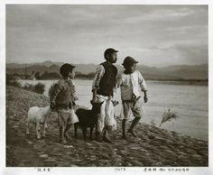 李鳴鵰   台北新店溪畔, 1947