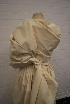 Draping on the stand using calico - pleats wrap & twist - fashion design; garment development; fabric manipulation; dressmaking; moulage