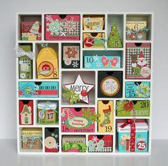 Tania Willis' Silhouette America Shadowbox Advent Calendar.