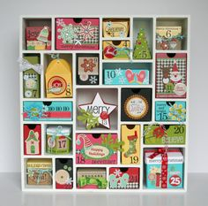 Tania Willis' Silhouette America Shadowbox Advent Calendar.
