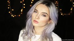 Everyday make up, pale skin, lilac hair, tutorial, step by step, my pale skin, em ford, cover acne