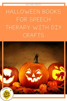 Halloween Books for Speech Therapy with DIY components