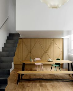 steel stairs + wood