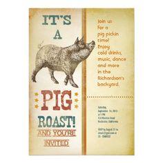 Graduation Pig Roast Invitations