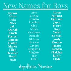 Which New Names For Boys Debuted
