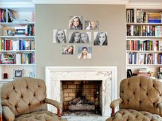 Custom Wall Art Gallery | I love the combination of black & white with color! Great way to display sibling photos and senior photos!