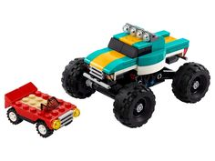 Monster Truck 31101   Creator 3-in-1   Buy online at the Official LEGO® Shop CA Monster Truck Toys, Toy Trucks, Lego Truck, Lego Creator, Monster Creator, Building For Kids, Building Toys, Lego Store, Buy Lego