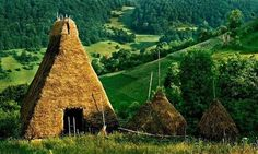 A traditional stable in Apuseni Mountains, Transylvania, Romania!