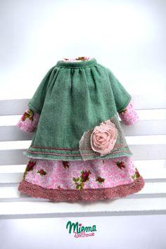 2 robes de Style vintage pour Blythe de Miema Dollhouse