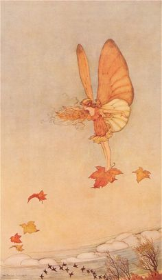 Illustration from Elves and Fairies by Annie Rentoul. Illustrated by Ida Rentoul Outhwaite