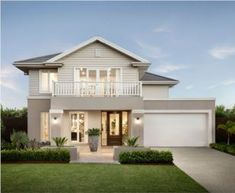 The Waterford Design Is A Vast Family Home - Learn About It Online House Paint Exterior, Exterior House Colors, Dream House Exterior, Exterior Design, Hamptons Style Homes, Hamptons House, Minimal House Design, American Houses, House Front Design
