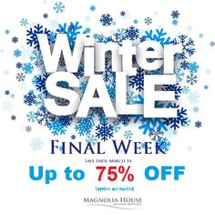 Our Magnolia House Winter Sale continues. Come in today and check out savings of up to off regular price on Purses, Jewelry, Clothing, Winter wear and much more. Supplies are limited. Sale ends soon. Winter Sale, Winter Wear, Finals Week, Magnolia Homes, Love To Shop, Spa Day, Gta, Hamilton, Toronto