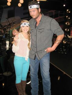 With Blake Shelton