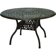 Delightful Darlee Series 60 59 Inch Cast Aluminum Patio Dining Table   Antique Bronze