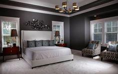 Grey Gray Bedroom | Free Style Interiors | Bonita Springs Florida Interior Designers