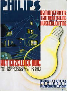 Light bulb ad ca. 1934 #retro #lights