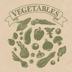 Vintage Vegetable Silhouettes by Illubelle on @creativemarket Vector Background, Textured Background, All Silhouettes, Different Textures, Pattern Illustration, Paper Texture, Textures Patterns, Color Change, Create Your Own