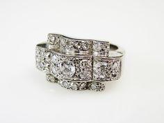 Retro never looked so good! #Retro #Diamond #Ring #1940s #Unique