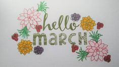 Hello March Pictures Clipart
