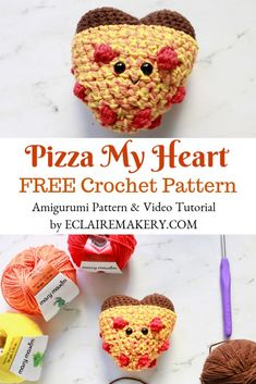Folk Embroidery Tutorial Anyone want a Pizza my Heart? Make this adorable pizza heart amigurumi crochet pattern with this cute crochet pattern! Includes a Free pattern and crochet video tutorial. Perfect for the pizza lover in your life! Crochet Food, Cute Crochet, Crochet Things, Folk Embroidery, Embroidery Designs, Food Patterns, Bobble Stitch, Crochet Videos, Crochet Patterns Amigurumi