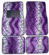 Purple Leopard Animal Print Front & Rear Carpet Car Truck SUV Floor Mats from LA Auto Gear