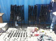 Confiscan cargamento de armas dentro de contenedor en el muelle de Haina