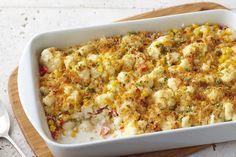 Creamy Garlic-Cauliflower Bake Receta
