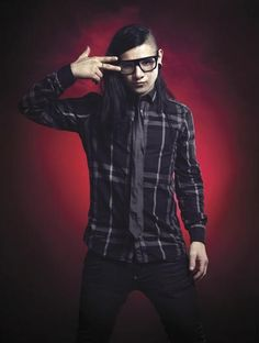 Skrillex....I DJ white Lighting will so look like this for snowball but girly(: