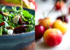 Arugula, Cherry and Goat Cheese Salad Recipe - NYT Cooking Healthy Pesto, Healthy Baking, Healthy Salads, Vegetarian Thanksgiving, Thanksgiving Recipes, Thanksgiving 2013, Salad Recipes, Healthy Recipes, Simple Recipes