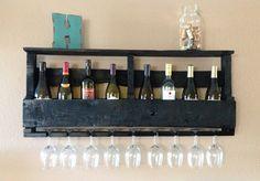 Large Top Shelf in Black Reclaimed Wood Wine by DelHutsonDesigns, $85.00