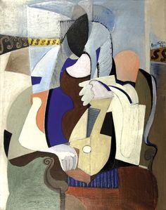 Emil Filla - Girl with Mandolin, 1929, oil on canvas, 123 x 94 cm