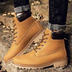 Waterproof Men's Women Ankle Boots 2018 Fashion Warm Martin Boots