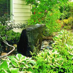 Boulder fountain - Great Garden Fountain Ideas - Sunset