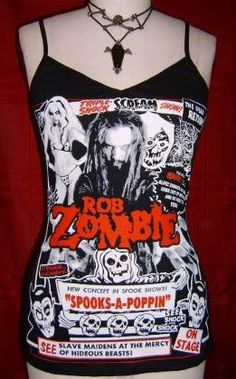6dfc668f89e2b5 ROB ZOMBIE diy cami Spooks A Poppin girly by SpookyOwlBootique