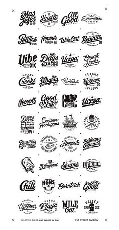 Selected typography works, logos and images. I was glad to work with this companies and shall upload the photos of the stuff when it will be available. Big Thanks for supporting and checking my stuff!