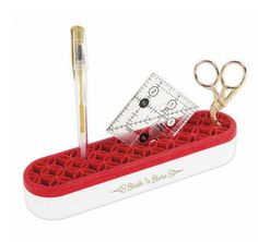 My favorite new tool for my sewing room. Keep your frequently used tools in one place. All Gifts, Gifts For Friends, Rotary Cutter, Apple Mobile, Fabric Gifts, Used Tools, Bee Happy, Fabric Squares, Gold Sparkle