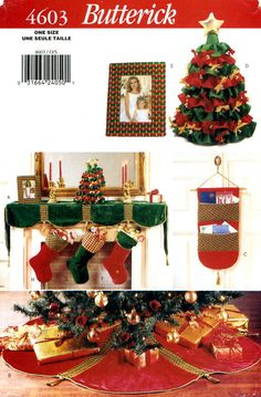 Butterick 4603 Christmas Home Decoration by LindaKayDesigns, $4.00