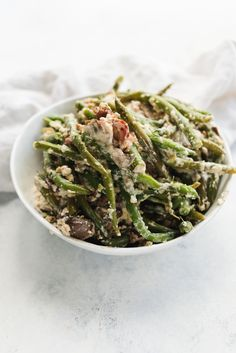 Addie's Green Bean Casserole is one that you can keep close all through the fall and into the winter. This easy side dish recipe is a Thanksgiving staple, but it tastes delicious paired with a regular weeknight meal too! Vegetable Side Dishes, Side Dishes Easy, Side Dish Recipes, Vegetable Recipes, Green Bean Casserole, Veggie Casserole, Casserole Dishes, Casserole Recipes, Stuffing Recipes For Thanksgiving