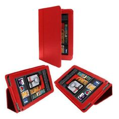"""PU Leather Folio Case Cover Red for Amazon Kindle Fire Tablet by Crazy Cart. $3.98. Features: 1. New and high quality, never used 2. Leather material, soft and comfortable, no peeling 3. With a card stand to support tablet PC 4. You can put your tablet PC on desk with this leather case 5. It can protect your tablet PC very well  Specifications: 1. Material: leather  2. Dimensions: (19.3 x 12.7 x 2)cm / (7.59 x 4.99 x 0.78)inch (L x W x H) 3. Diagonal: 8.54""""  4. Color:  red  Packa..."""