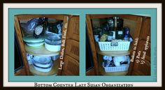 Lazy Susan Kitchen Cabinet Organization: Tips & Tricks (On the cheap!!) | If I had a million hours...
