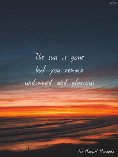 The sun is gone but you remain undimmed and glorious~ #LinManuelMiranda