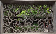 chinese window - love the curved lines
