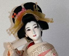 Japanese antique Oiran doll. Japanese Kimono Dolls Catalogue. Japanese Art online shop. The Black Samurai Online Shop.
